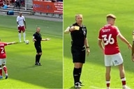 Aston Villa fans booked by referee Kevin Friend during 3-0 win vs Bristol City