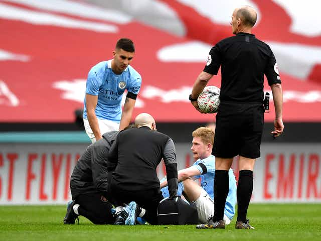Pep Guardiola provides worrying injury update on Kevin De Bruyne