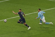 Kylian Mbappe admires the speed of Manchester City's Kyle Walker