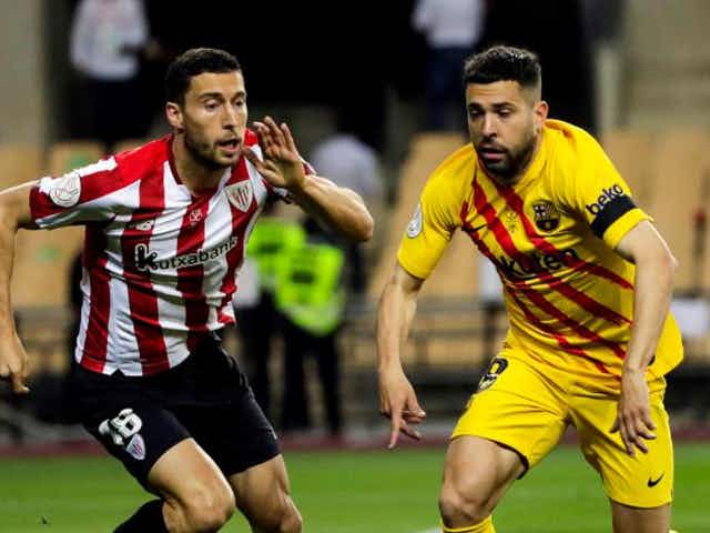 Coupe du Roi : Athletic Bilbao 0-0 FC Barcelone (mi-temps)