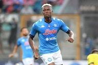 Víctor Osimhen, delantero del Napoli entrenó con playera de Pumas