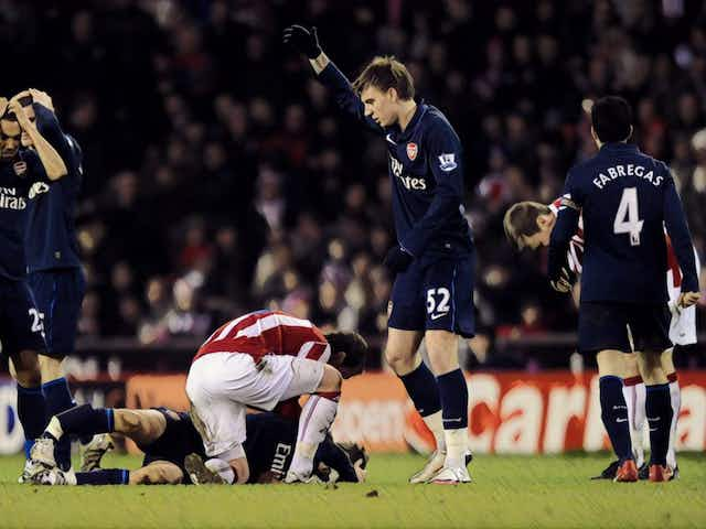 Long throws and leg breaks: How Stoke vs Arsenal became the Premier League's strangest rivalry