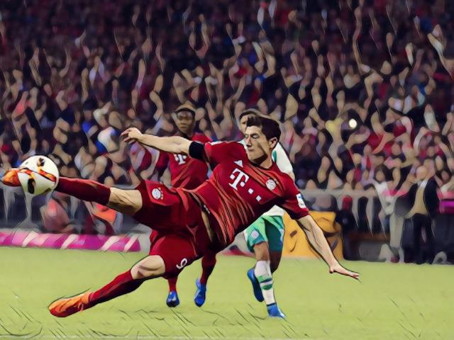 Five Star: Lewandowski banging five past Wolfsburg