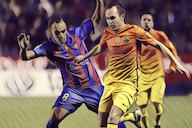 Barca marvel Iniesta smashing home against Levante