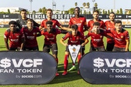 Valencia CF play in new away kit for first time
