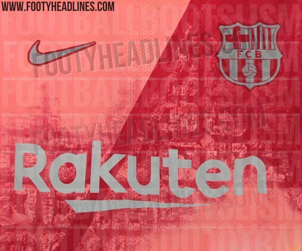 0fc10461c Images of Barcelona s new third kit have been leaked ahead of its official  release later this summer – and it s a bit of a peach.