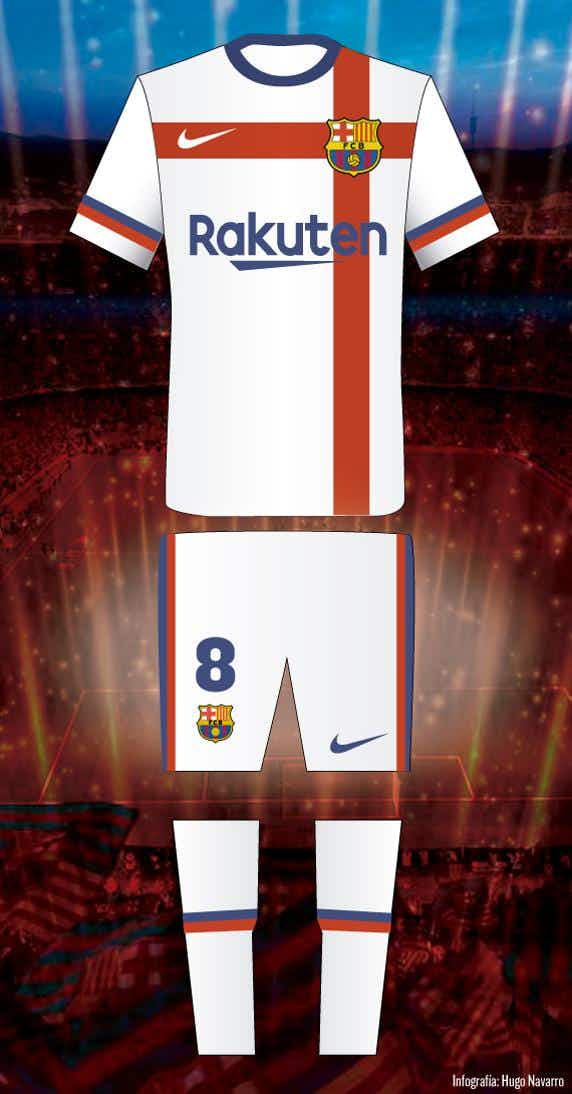 738ac2698 Barça haven t worn white since the 1950s with the colour becoming synonymous  with their bitter rivals.