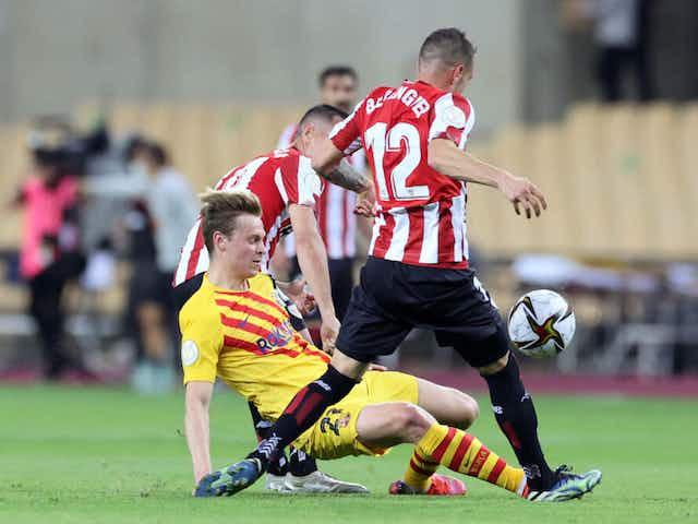 Frenkie de Jong has been amazing in the Copa del Rey final 👏