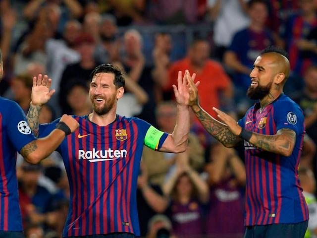 Vidal y Suárez se rinden ante Messi y celebran la Copa del  Barça