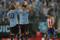 Luis Suárez y su celebración por los 10 años de la Copa América 2011