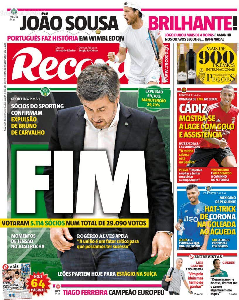 🗞Bruno de Carvalho é o assunto de domingo - Onefootball