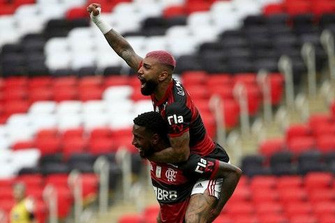 Imagem do artigo: https://image-service.onefootball.com/crop/face?h=810&image=https%3A%2F%2Fwp-images.onefootball.com%2Fwp-content%2Fuploads%2Fsites%2F13%2F2021%2F02%2FBrasileirao-Series-A-Flamengo-v-Internacional-Play-Behind-Closed-Doors-Amidst-the-Coronavirus-COVID-19-Pandemic-1614513400-1000x667.jpg&q=25&w=1080