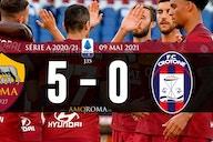 AS Roma 5 – 0 Crotone : La Roma déroule en 2è mi-temps.