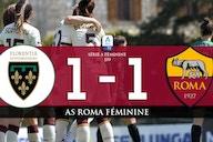 Florentia San Gimignano 1 – 1 AS Roma féminine : deuxième match nul consécutif pour la Roma.