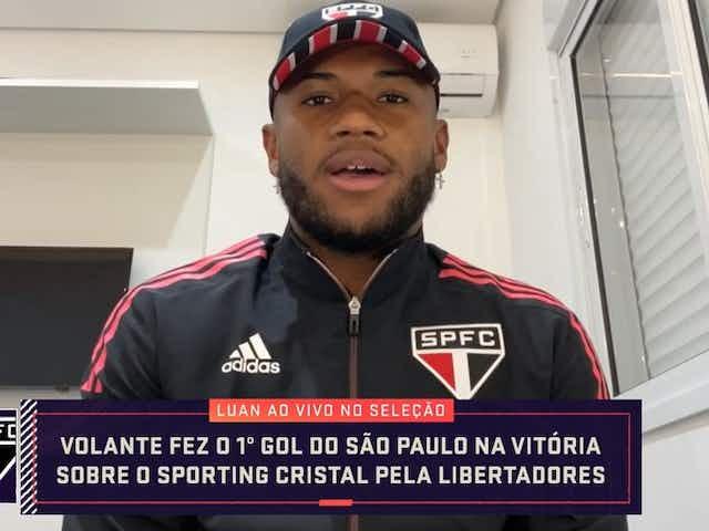 Depois de marcar o primeiro gol, Luan admite que não será apenas um volante marcador