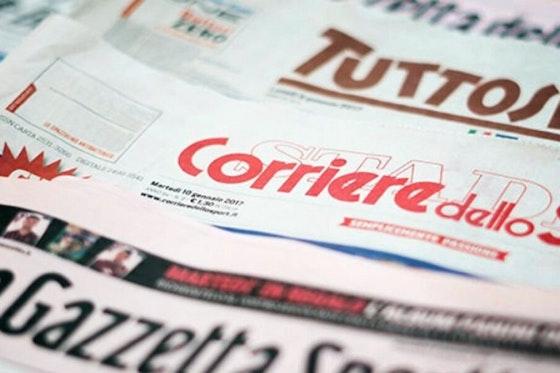 Immagine dell'articolo: https://image-service.onefootball.com/crop/face?h=810&image=https%3A%2F%2Fwww.cagliarinews24.com%2Fwp-content%2Fuploads%2F2020%2F03%2FPrime-Pagine-Quotidiani-Sportivi-italiani-oggi-1068x600-1.jpg&q=25&w=1080