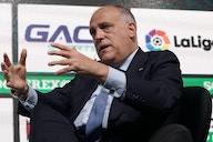 Tebas da la cara: Florentino, sanciones por la Superliga, la mano de Militao...