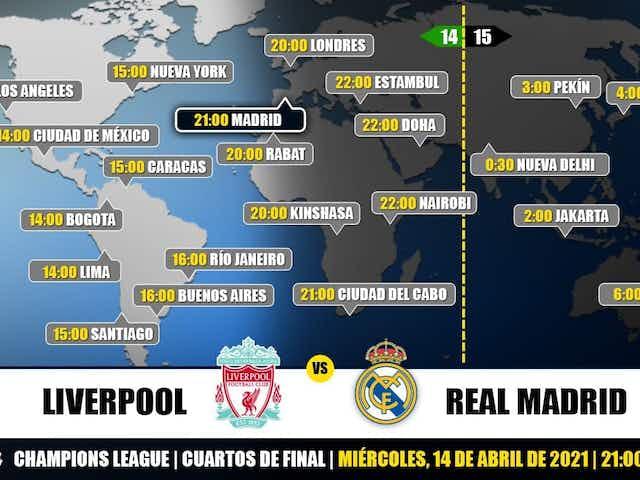 Liverpool vs Real Madrid en TV: Cuándo y dónde ver el partido