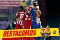¡Gracias Lucho! El Barça homenajeó a Luis Suárez antes de empezar el partido