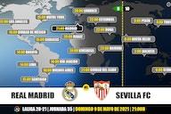 Real Madrid vs Sevilla en TV: Cuándo y dónde ver el partido