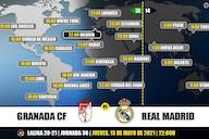 Granada vs Real Madrid en TV: Cuándo y dónde ver el partido
