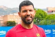 El Kun Agüero adelanta su vuelta y ya entrena en Can Barça