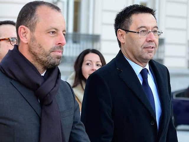 Rosell y Bartomeu recuerdan al culé los éxitos durante su gestión