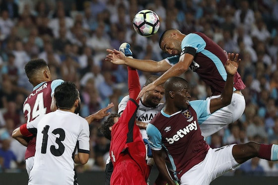 Article image: https://image-service.onefootball.com/resize?fit=max&h=608&image=https%3A%2F%2Fwww.footballfancast.com%2Fwp-content%2Fuploads%2F2021%2F03%2FWest-Ham-Uniteds-Winston-Reid-and-Enner-Valencia-in-action-with-FC-Astra-Giurgius-Silviu-Lung.jpg&q=25&w=1080