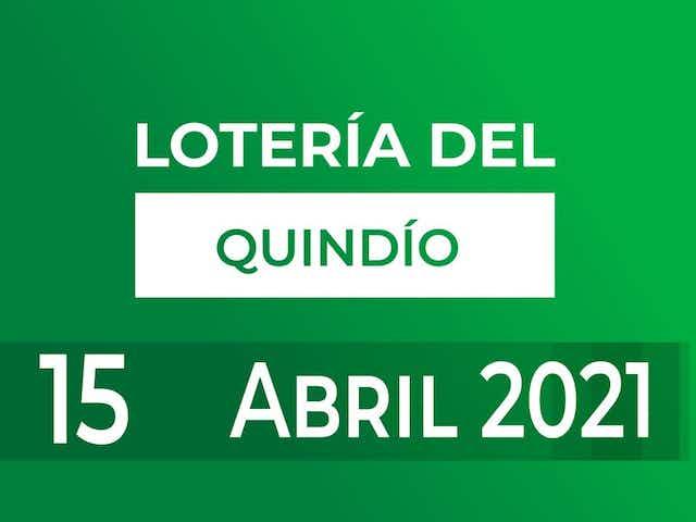 Resultado de la Lotería del Quindío: jueves 15 de abril del 2021