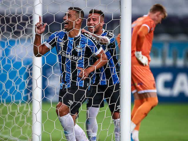 Artilheiro! Diego Souza abre o placar para o Grêmio contra o Del Valle; Confira