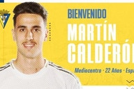 Oficial: Martín Calderón, nuevo jugador del Cádiz