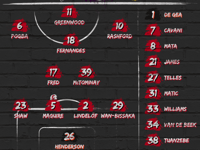 Compositions : Manchester United - Burnley