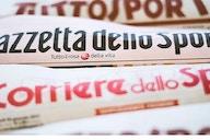 Le prime pagine dei quotidiani sportivi in edicola questa mattina