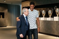 Varane says goodbye to the president and the squad