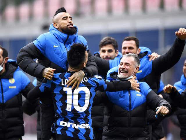 Inter, il bacetto della buonanotte. Il Cagliari dà la sveglia alla bagarre salvezza